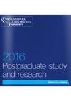 Liverpool John Moores University Postgraduate Prospectuses